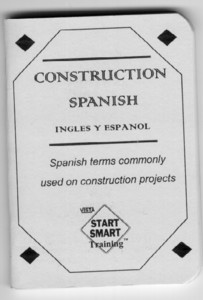 Qty 10 Construction Spanish Booklet English & Spanish (Pkg Of 10)